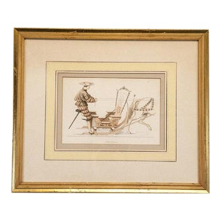 Antique French Carriage Engraving For Sale
