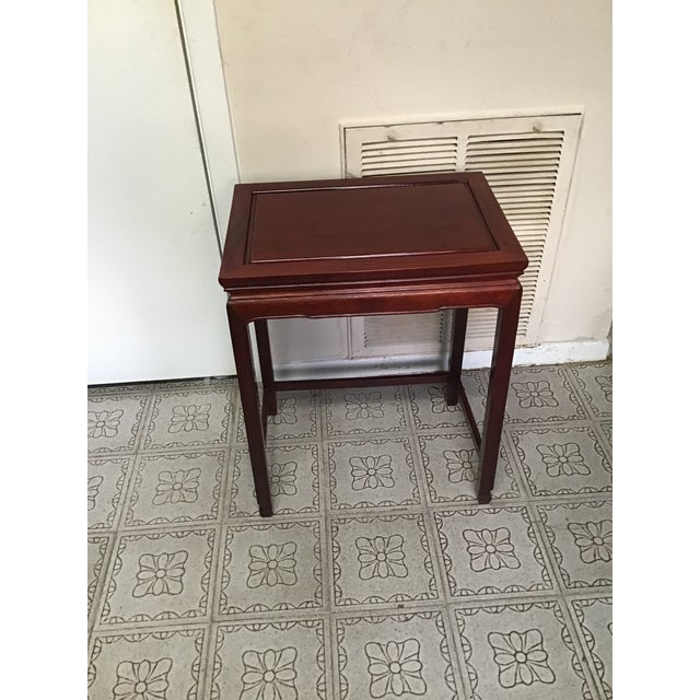 1900s Chinese Mahogany Handmade Side Table For Sale - Image 12 of 12
