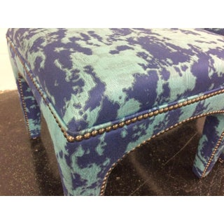 21st Century Upholstered Sam Moore Nailhead Lulu Stools- a Pair Preview
