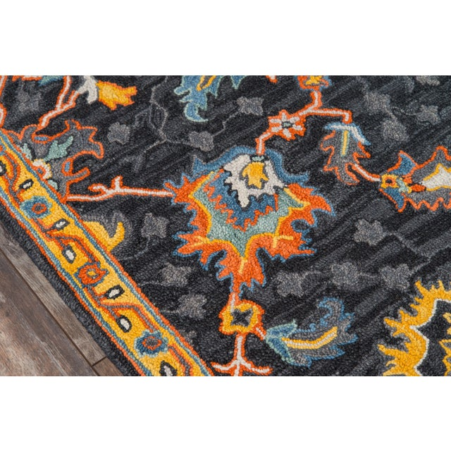 """Traditional Ibiza Charcoal Hand Tufted Area Rug 2'3"""" X 7'10"""" Runner For Sale - Image 3 of 7"""