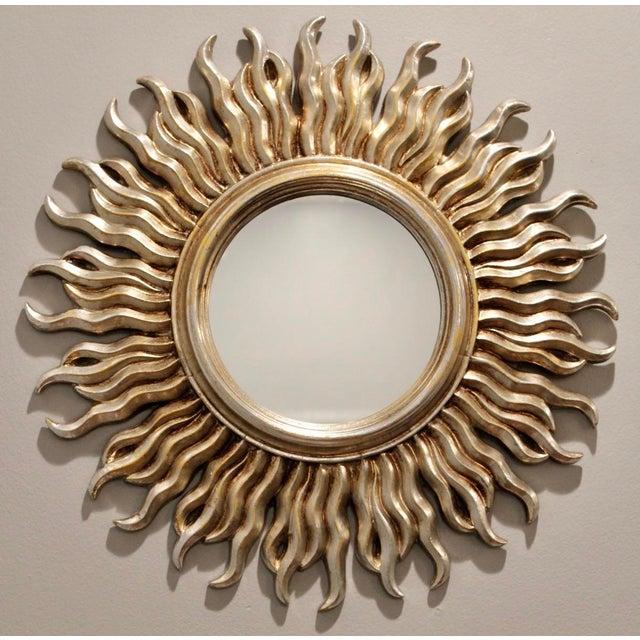 Mid 20th Century Mid-Century Silver Italian Sunburst Mirror For Sale - Image 5 of 6