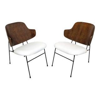 Pair of Mid-Century Danish Modern Ib Kofod Larsen Selig Penguin Chairs For Sale