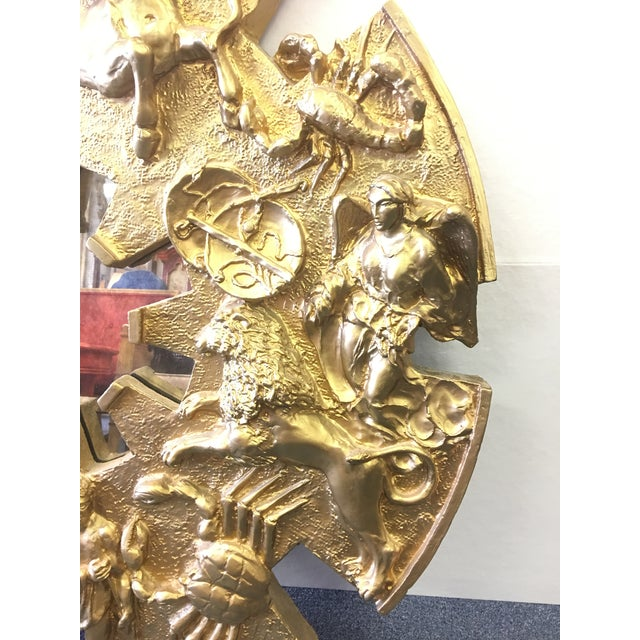 1970s Vintage 1970's Zodiac Figural Mirror For Sale - Image 5 of 8