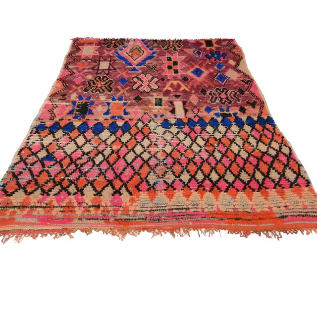 Islamic 1960s Vintage Berber Moroccan Rug - 5′4″ × 6′2″ For Sale - Image 3 of 9