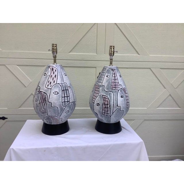Bitossi Midcentury Modern Large Scale Lamps, a Pair For Sale - Image 10 of 11