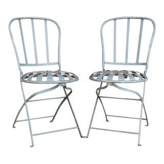 Sunburst French Bistro Spring Chairs - a Pair For Sale