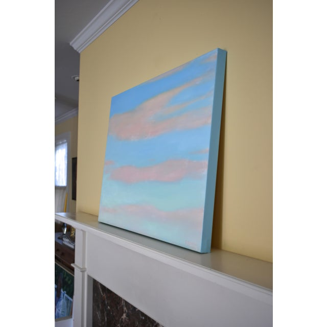 """Blue Modern """"Layered Clouds"""" Contemporary Painting by Stephen Remick For Sale - Image 8 of 11"""