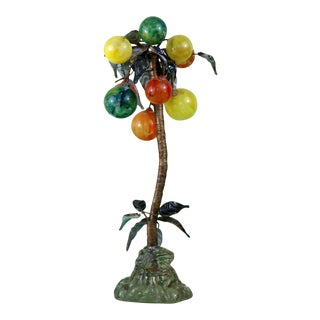 Vintage Glass and Copper Palm Tree For Sale