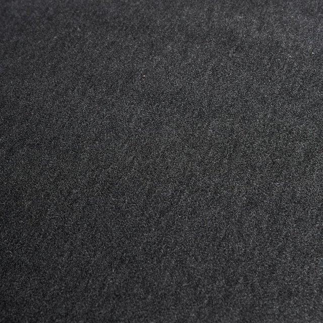 Metal Gigi Radice Italian Settee Loveseat in Charcoal Gray Mohair For Sale - Image 7 of 10