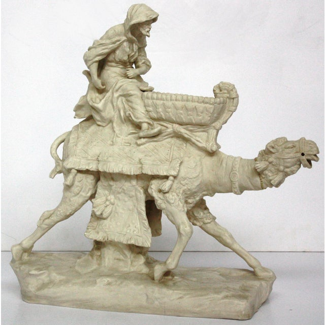 Parian Ware Arabian Camel with Bedouin Rider by Imperial-Amphora / Turn, Austria - Image 2 of 11