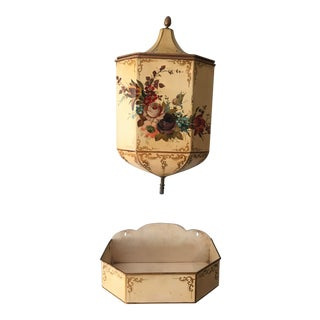 French Painted Faux Garden Wall Fountain Set - a Pair For Sale
