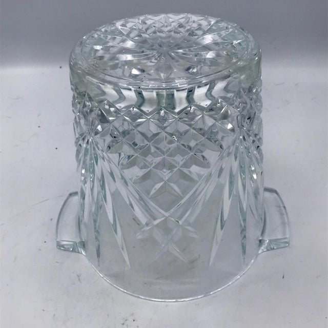 Mid-Century Cut Lead Crystal Ice Bucket / Champagne Cooler - Image 4 of 5