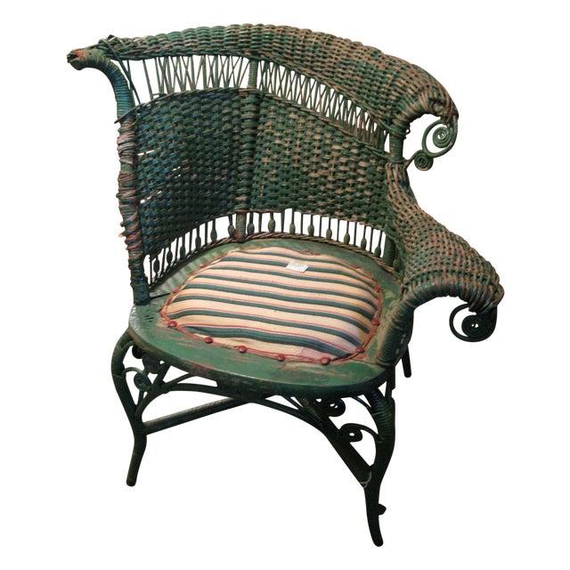 Art Deco Wicker Chair - Image 1 of 9