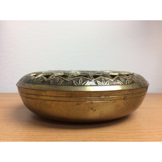 Pierced Brass Lidded Trinket Box For Sale - Image 4 of 8