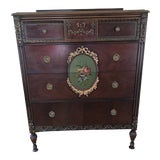Image of 20th Century French Louis XVI Style Hand Painted Chest of Drawers For Sale