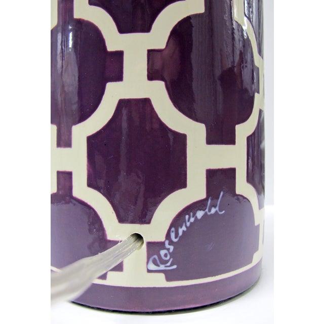 Jill Rosenwald Hampton Links Table Lamp in Purple - Image 5 of 6
