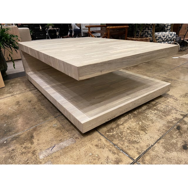 2020s Cantilever Oak Coffee Table For Sale - Image 5 of 7