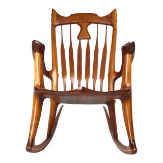 Dave Hentzel Hand-Crafted Rocking Chair For Sale
