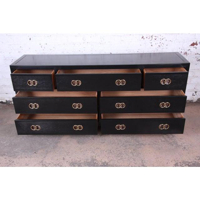 Michael Taylor for Baker Furniture Hollywood Regency Ebonized Long Dresser or Credenza For Sale - Image 9 of 13