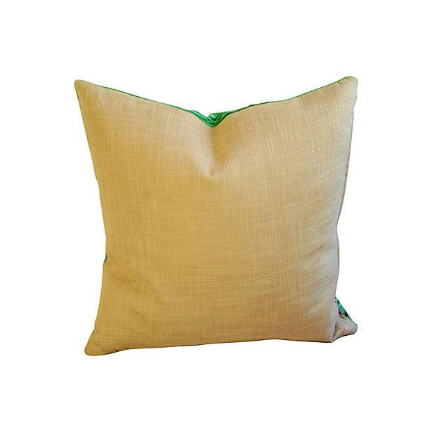 Custom Designer Emerald Malachite Pillows - Set 3 - Image 4 of 6