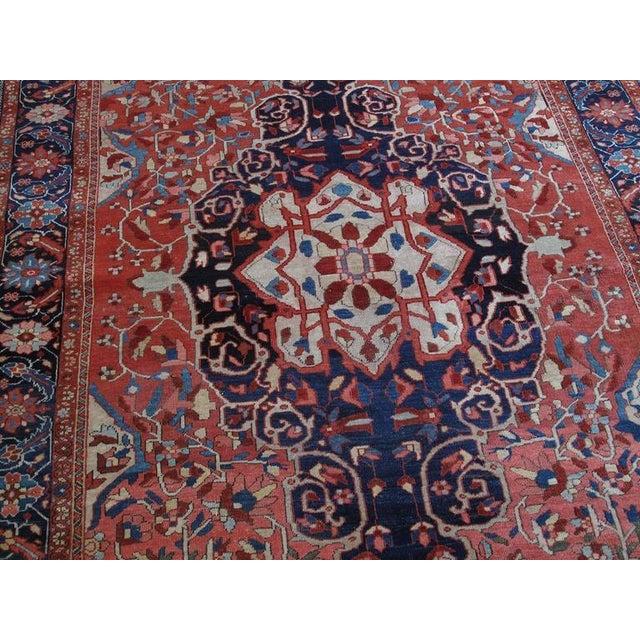 Antique Feraghan Sarouk Rug For Sale - Image 4 of 10