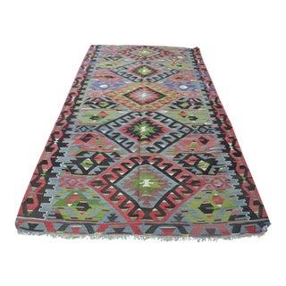 Anatolian Turkish Tribal Area Kilim Rug - 5′1″ × 9′4″