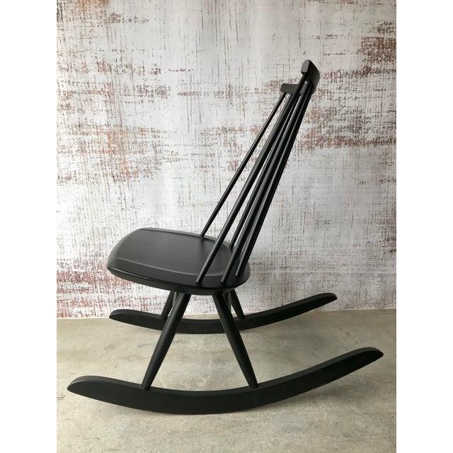 Black Artek Mademoiselle Rocking Chair by Ilmari Tapiovaara For Sale - Image 8 of 9