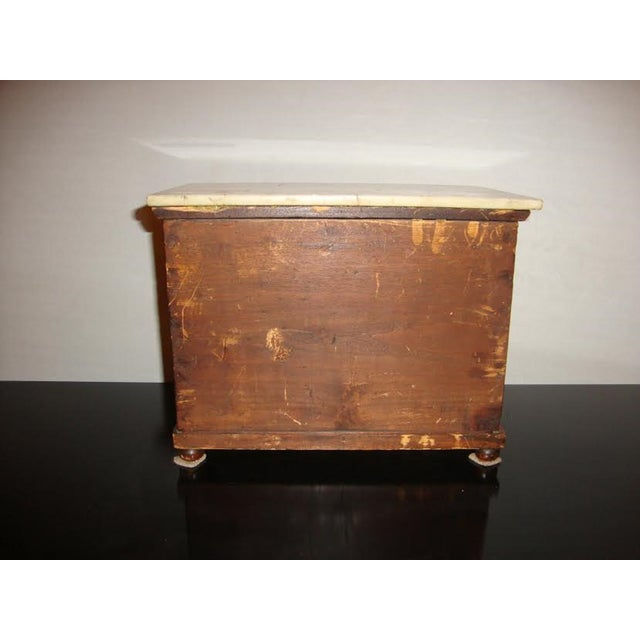 Marble 19th-Century Miniature Marble Top Chest For Sale - Image 7 of 8