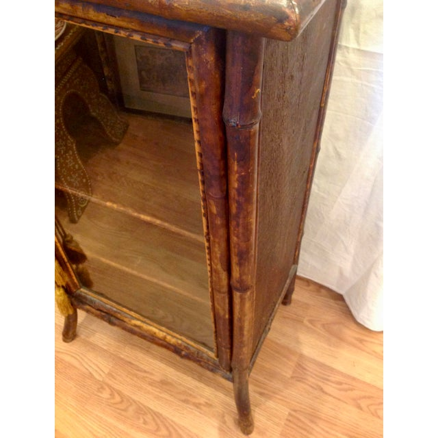 19th Century English Bamboo Cabinet For Sale - Image 9 of 13