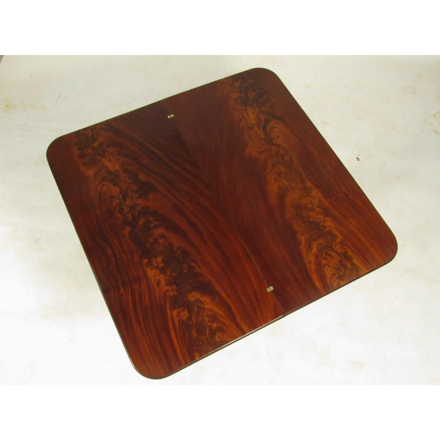 19th Century American Empire Card Table For Sale - Image 5 of 11