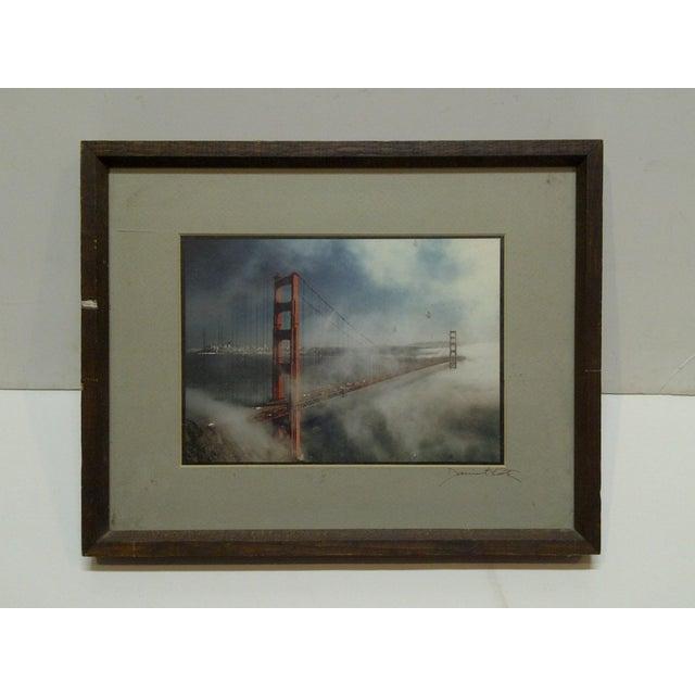 "Wood Framed Color Photograph ""The Golden Gate Bridge"" by Daniel Cole - Image 6 of 6"