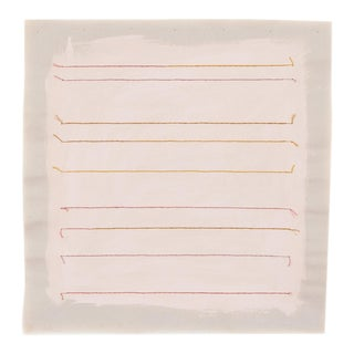 """Pastel Pink Stripe 20"""" Abstract Fine Art Print by Emily Keating Snyder For Sale"""