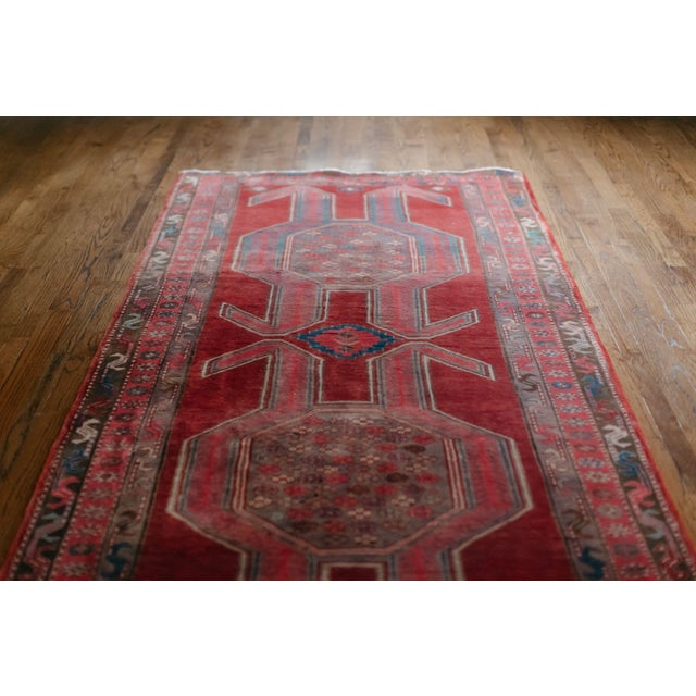 """1940s Vintage Nomadic Persian Rug-4'8'x9'7"""" For Sale - Image 4 of 13"""
