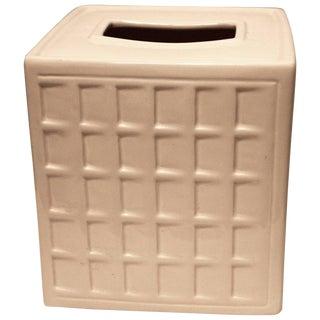 1990s Contemporary Ceramic Tissue Cover For Sale