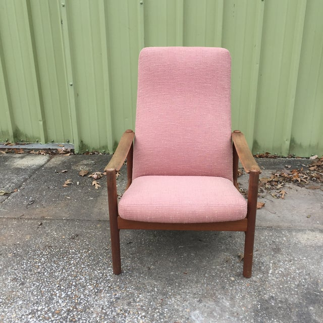 Danish Modern Vintage Mid-Century Modern Reclining Danish Style Chair For Sale - Image 3 of 11