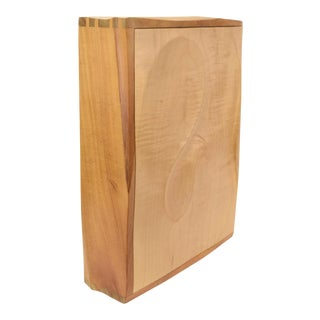 Artisan Studio Made Curly Maple Contoured Wall Cabinet