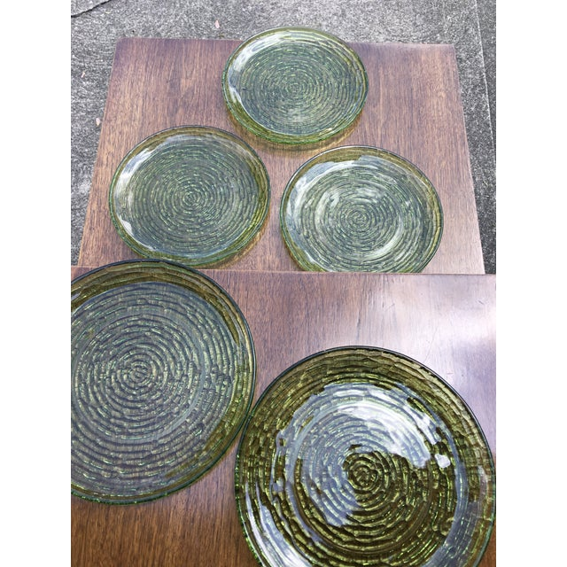 Vintage Libbey Rock Sharpe Olive Green Salad Plates- Set of 5 - Image 6 of 6