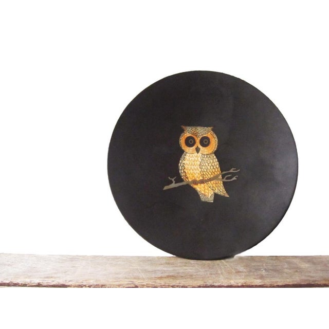 Plastic Vintage Couroc of Monterey Owl Dish For Sale - Image 7 of 9
