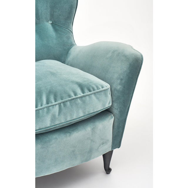 Carlo DI Carli Vintage Velvet Armchairs For Sale - Image 9 of 10