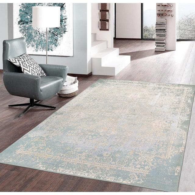 "Pasargad Transitiona Silk Wool Rug - 7'11"" x 9'11"" - Image 4 of 4"