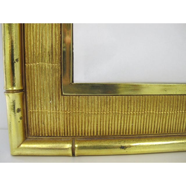 1960s Boho Chic Syroco Faux Bamboo Mirror For Sale In Seattle - Image 6 of 10