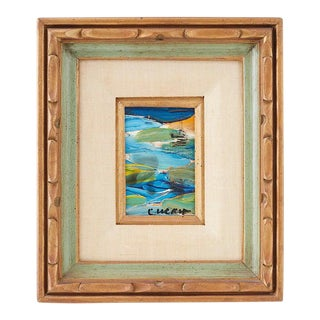 Pascal Cucaro Abstract Seascape 1960's For Sale