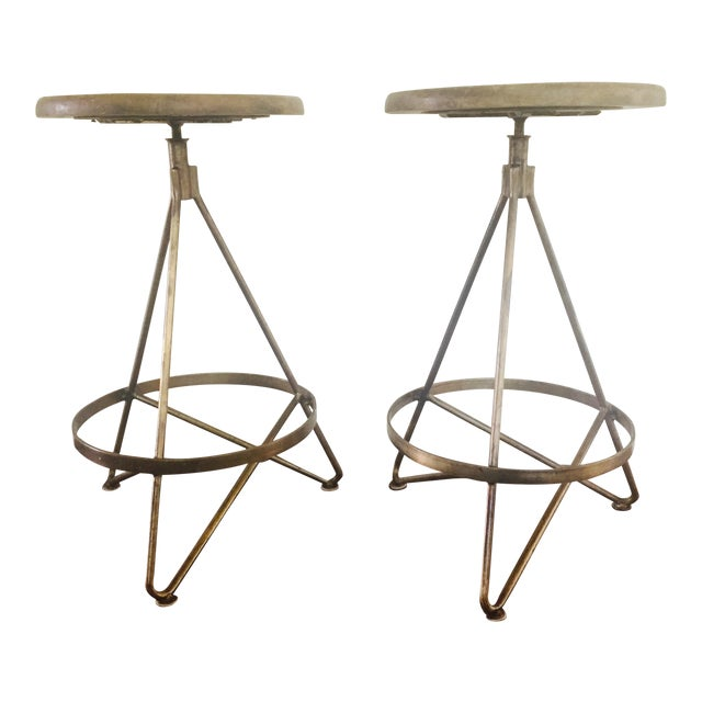 Arteriors Home Wyndham Natural Wax Barstool - Set of 2 - Image 1 of 5