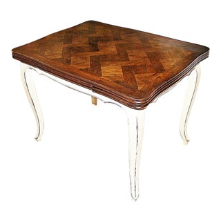 19-20th Century French Country Draw-Leaf Table For Sale