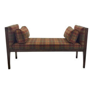 Pearson Co. Plaid Wool Bench For Sale