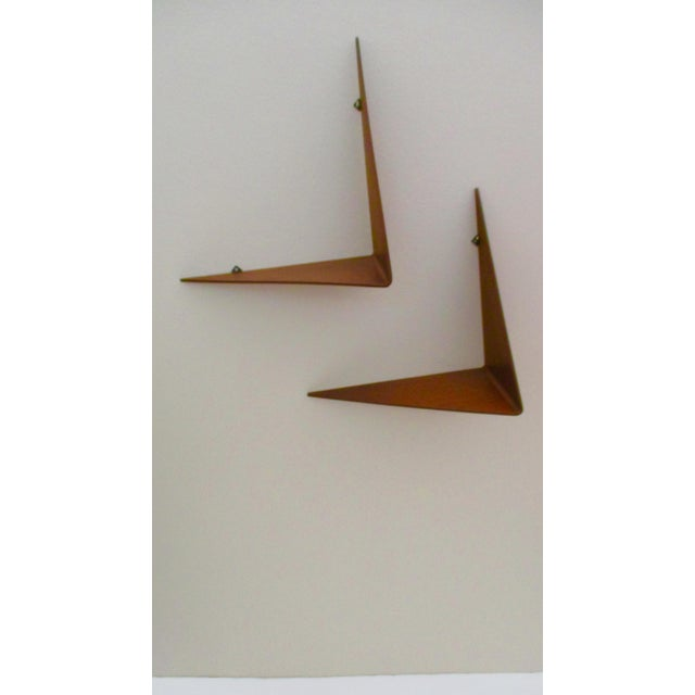 Poul Cadovius Cado Butterfly Teak Wood Shelves - Set of 2 For Sale In Phoenix - Image 6 of 13