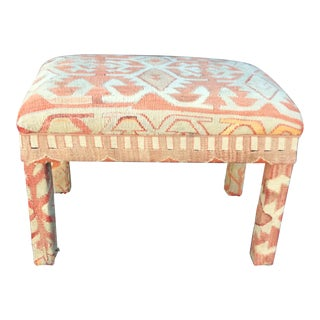 1990s Vintage Kilim Bench For Sale