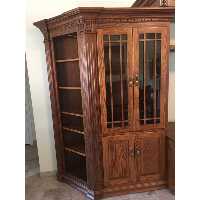 Amish Lighted 5-Piece Wall Unit - Image 8 of 11