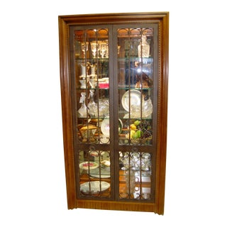 1970s Traditional Metal Frame Door Curio For Sale