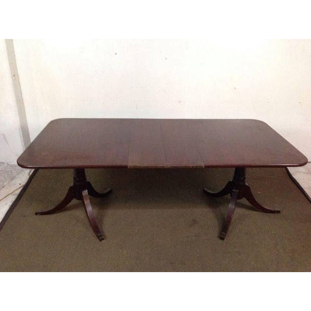 Mahogany Double Pedestal Dining Table - Image 2 of 8